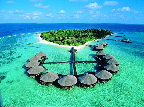 Most of the Maldives are less than a metre above sea level.
