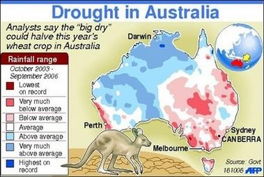 2 Map of increased drought in Australia   Australia   Pinterest