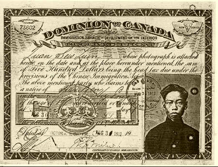 Early asian immigation to canada