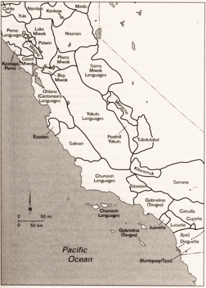 Indian languages of central and southern California-s