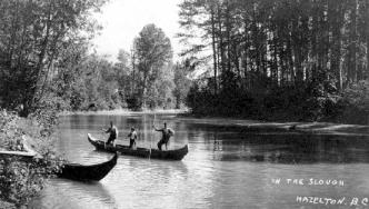 Fishing in slough Hazelton c1910