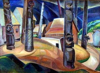 Kispiox Village, Emily Carr, 1929