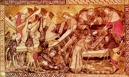 black death in tourinai 1349