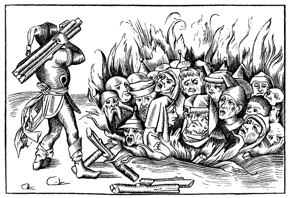 Burning Jews at Cologne 1349