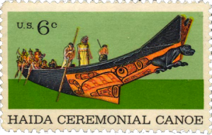 Haida canoe stamp